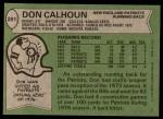 1978 Topps #281  Don Calhoun  Back Thumbnail
