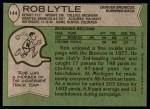 1978 Topps #144  Rob Lytle  Back Thumbnail