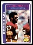 1978 Topps #10  Ken Houston  Front Thumbnail
