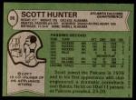 1978 Topps #36  Scott Hunter  Back Thumbnail