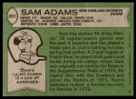 1978 Topps #201  Sam Adams   Back Thumbnail