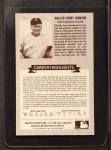 1972 Kellogg All Time Greats #1  Walter Johnson  Back Thumbnail