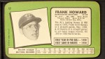 1971 Topps Super #17  Frank Howard  Back Thumbnail