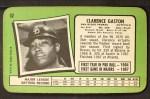 1971 Topps Super #52  Cito Gaston  Back Thumbnail