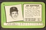 1971 Topps Super #55  Jim Northrup  Back Thumbnail