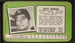 1971 Topps Super #26  Roy White  Back Thumbnail