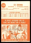 1963 Topps #122  Ed Brown  Back Thumbnail