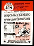 1953 Topps Archives #319  Ted Williams  Back Thumbnail
