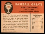 1961 Fleer #100  Stanley Coveleski  Back Thumbnail