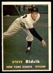 1957 Topps #123  Steve Ridzik  Front Thumbnail