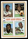 1974 Topps #4   -  Hank Aaron Special 1962-65 Front Thumbnail