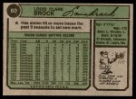1974 Topps #60  Lou Brock  Back Thumbnail
