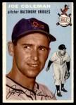 1954 Topps #156  Joe Coleman  Front Thumbnail
