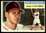 1956 Topps #309  Don Blasingame  Front Thumbnail