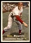 1957 Topps #129  Saul Rogovin  Front Thumbnail