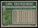 1977 Topps #480  Carl Yastrzemski  Back Thumbnail