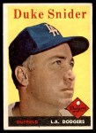1958 Topps #88  Duke Snider  Front Thumbnail