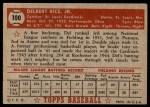 1952 Topps #100  Del Rice  Back Thumbnail