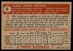 1952 Topps #41  Bob Wellman  Back Thumbnail