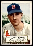 1952 Topps #177 CRM Bill Wight  Front Thumbnail