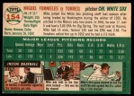 1954 Topps #154  Mike Fornieles  Back Thumbnail