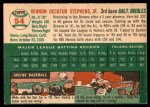 1954 Topps #54  Vern Stephens  Back Thumbnail
