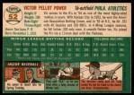 1954 Topps #52  Vic Power  Back Thumbnail
