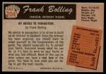 1955 Bowman #204 COR Frank Bolling  Back Thumbnail