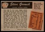 1955 Bowman #203  Steve Gromek  Back Thumbnail