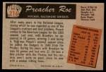 1955 Bowman #216  Preacher Roe  Back Thumbnail