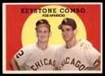 1959 Topps #408   -  Luis Aparicio / Nellie Fox Keystone Combo Front Thumbnail