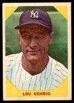 1960 Fleer #28  Lou Gehrig  Front Thumbnail