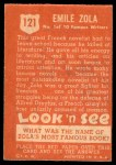 1952 Topps Look 'N See #121  Emile Zola  Back Thumbnail