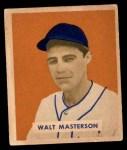 1949 Bowman #157  Walt Masterson  Front Thumbnail