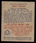 1949 Bowman #174  Terry Moore  Back Thumbnail