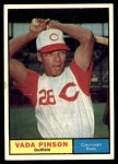 1961 Topps #110  Vada Pinson  Front Thumbnail