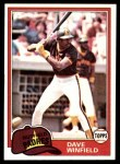 1981 Topps #370  Dave Winfield  Front Thumbnail