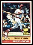 1976 Topps #50  Fred Lynn  Front Thumbnail