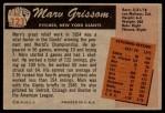 1955 Bowman #123  Marv Grissom  Back Thumbnail