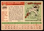 1955 Topps #200  Jackie Jensen  Back Thumbnail