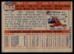 1957 Topps #182  Hobie Landrith  Back Thumbnail