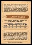 1976 O-Pee-Chee WHA #26  Larry Pleau  Back Thumbnail