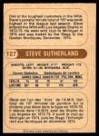 1976 O-Pee-Chee WHA #127  Steve Sutherland  Back Thumbnail