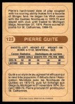 1976 O-Pee-Chee WHA #123  Pierre Guite  Back Thumbnail
