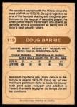 1976 O-Pee-Chee WHA #119  Doug Barrie  Back Thumbnail