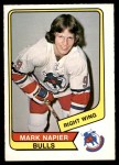 1976 O-Pee-Chee WHA #108  Mark Napier  Front Thumbnail