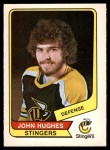 1976 O-Pee-Chee WHA #106  John Hughes  Front Thumbnail
