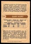 1976 O-Pee-Chee WHA #102  Gary Kurt  Back Thumbnail