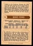 1976 O-Pee-Chee WHA #75  Mike Ford  Back Thumbnail