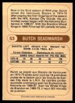 1976 O-Pee-Chee WHA #53  Butch Deadmarsh  Back Thumbnail